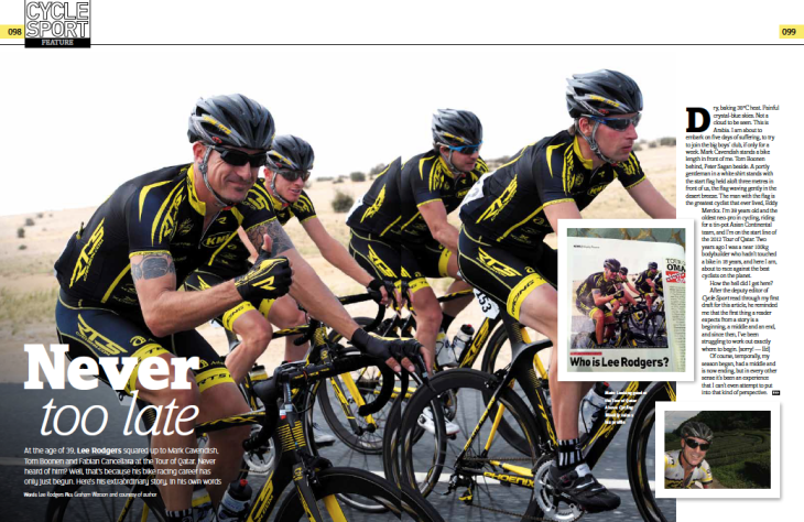 article in Cycle Sport