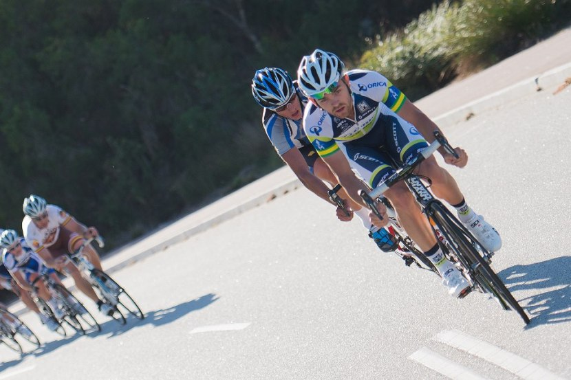 Orica's Jack Bobridge dropping his hammer