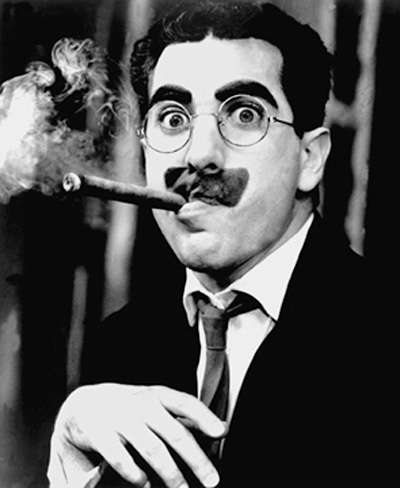 Groucho, also a fan of cigars