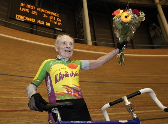 Robert Marchand, the 100 year old Monsieur Magnifcent, who rode 100km recently to celebrate his centenary.