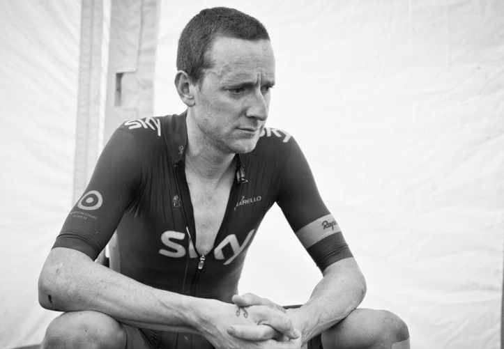 A pensive Wiggins after the ITT