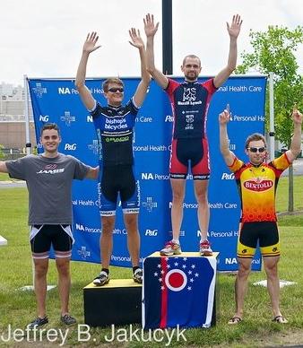Ian Hilt, top of the podium