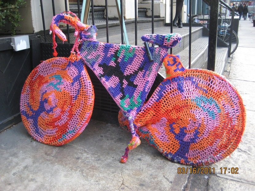 remember when Gran used to crochet your bike though? thankfully, this hasn't made a comeback