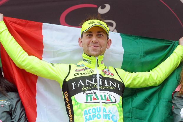 Santambrogio on the podium at the Giro
