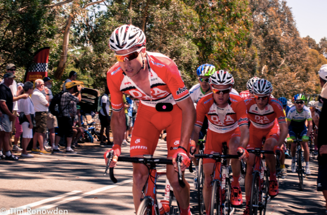 Drapac leads the breakaway up Mt Buninyong.