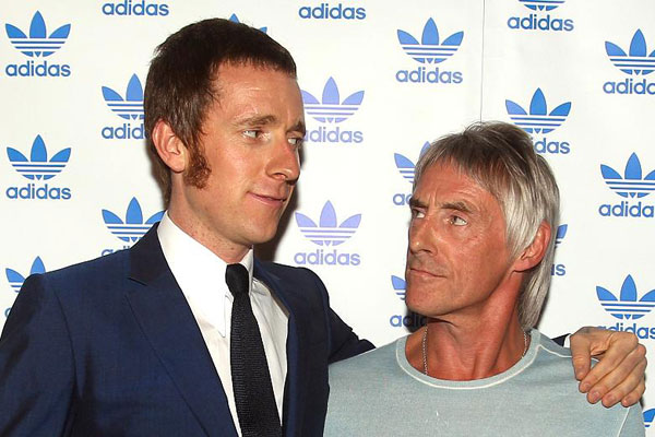 Wiggo and his mechanic