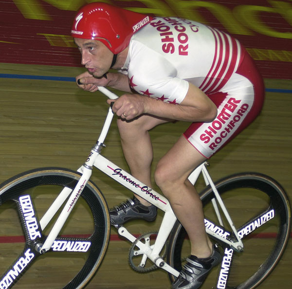 Obree on his little beauty