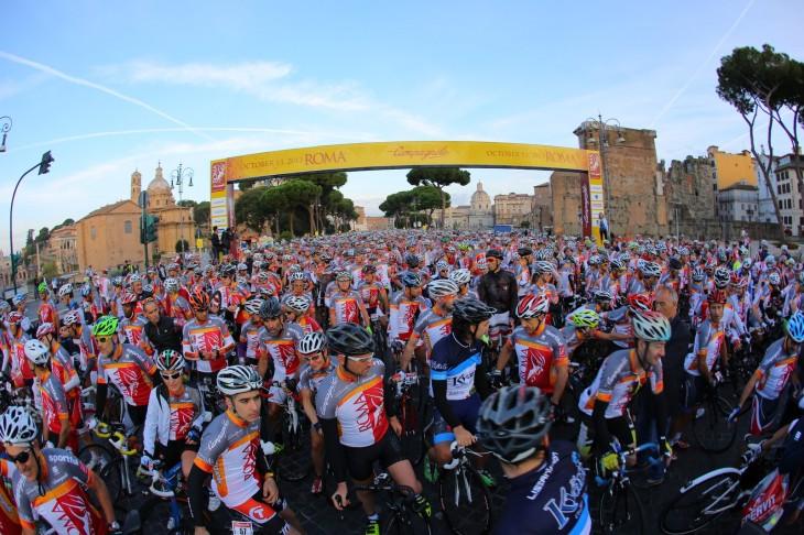 the Gran Fondo Roma - quite popular, then