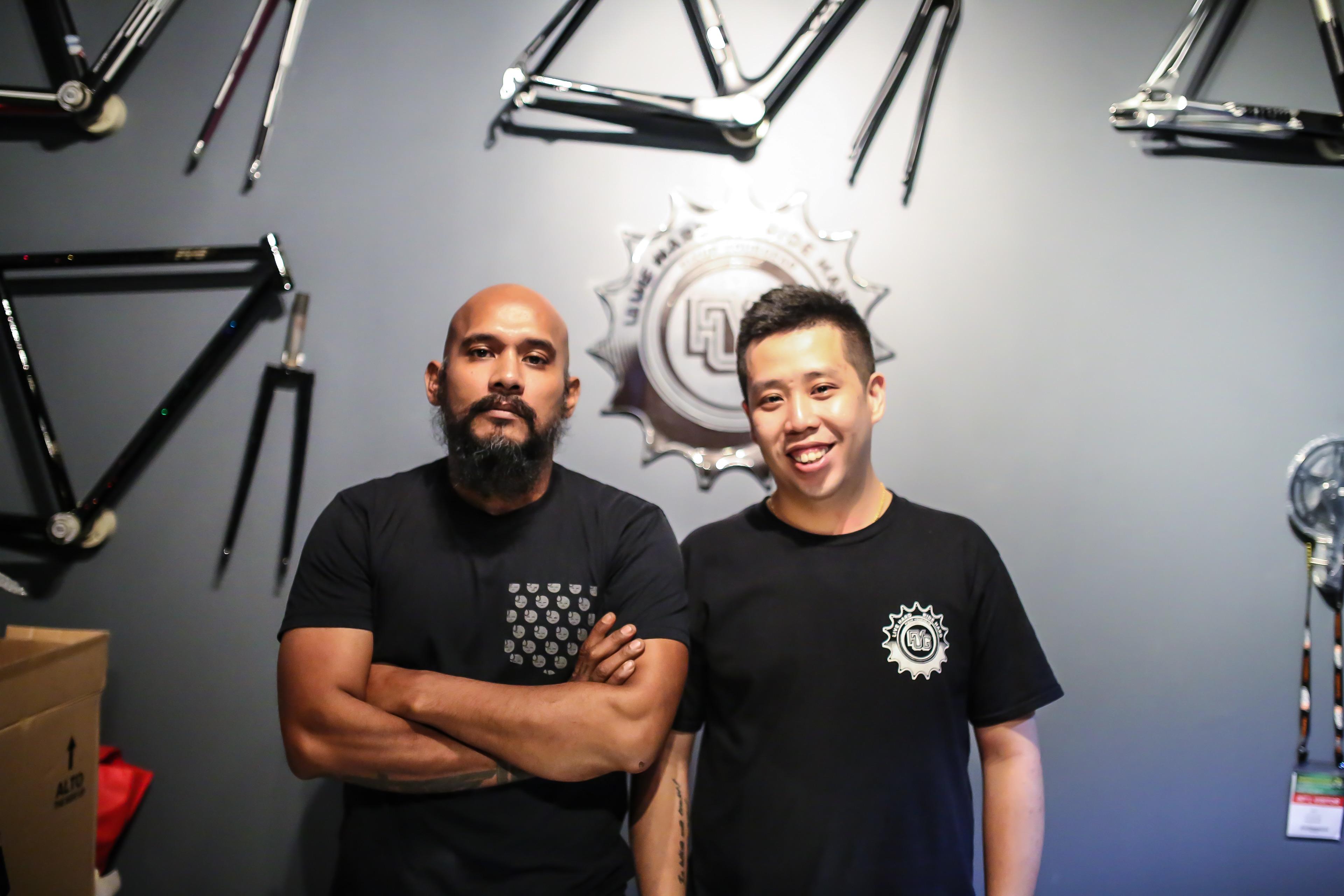 Photo: Zul Awab, left, and Eric Khoo.